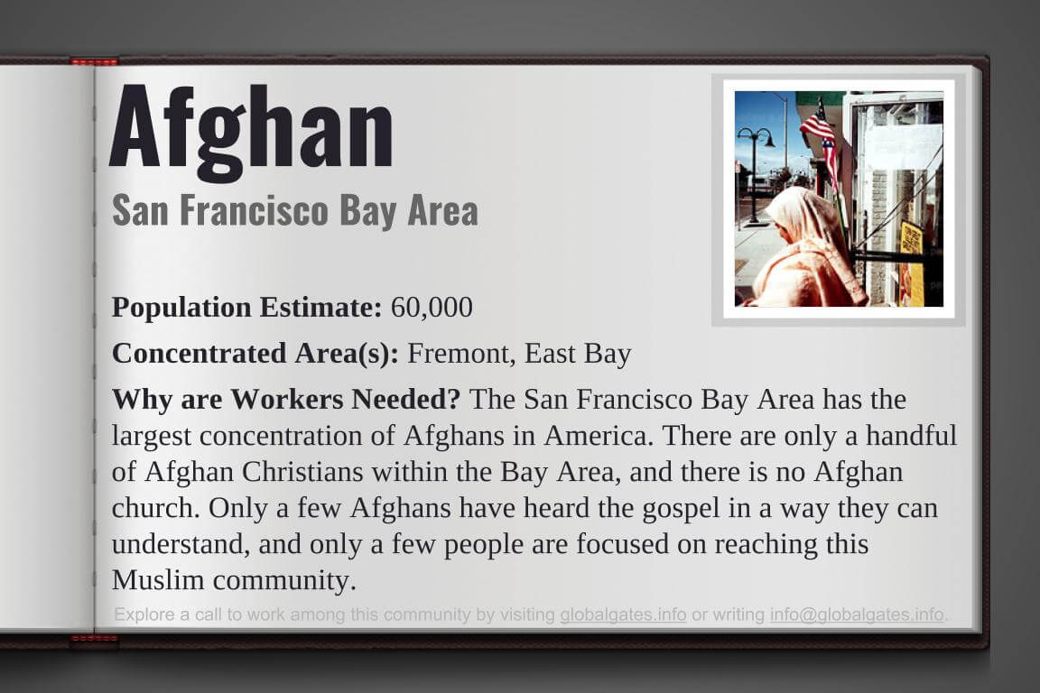 California San Francisco Afghans Unreached People Group