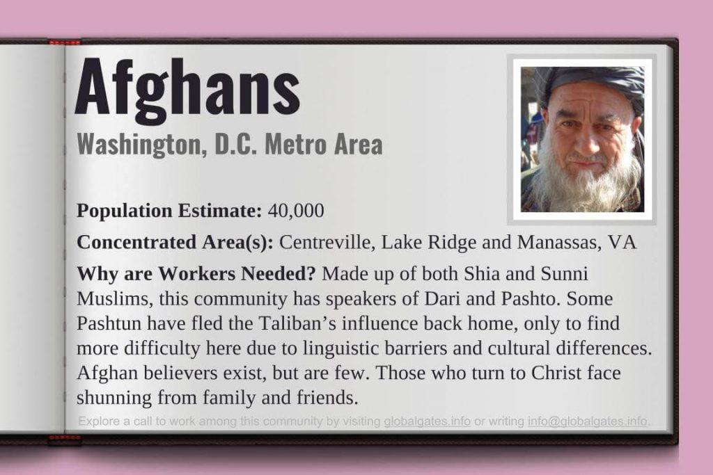 Global Gates Afghans Of Washington D.C Profile
