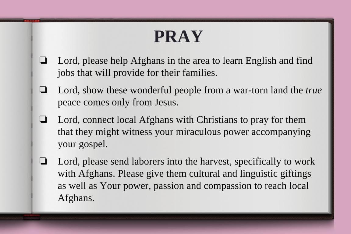 Global Gates Afghans Of Washington D.C Prayer