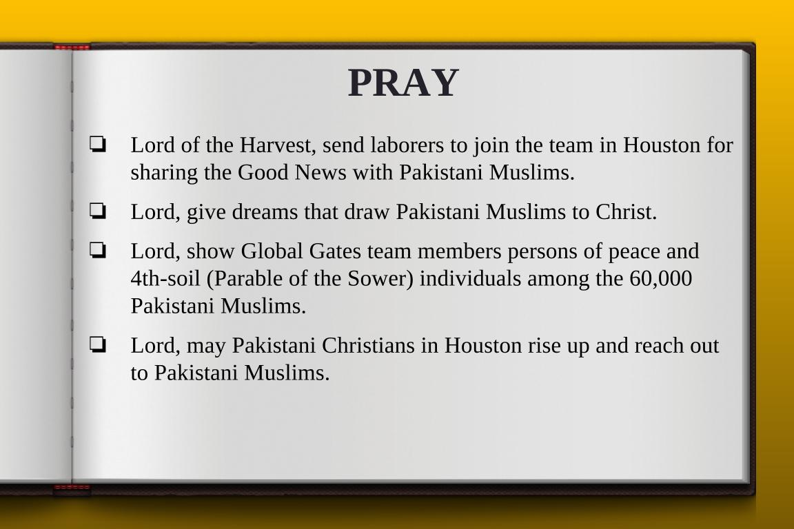 Global Gates Pakistani Of Houston Prayer
