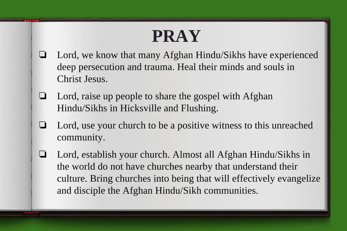 Global Gates Afghan Hindu/Sikh Of Metro New York Prayer