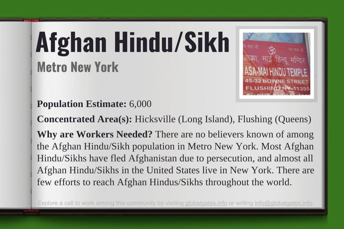 Global Gates Afghan Hindu/Sikh Of Metro New York Profile