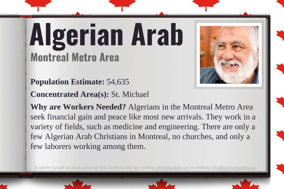 Global Gates Algerian Arab Of Montreal Profile