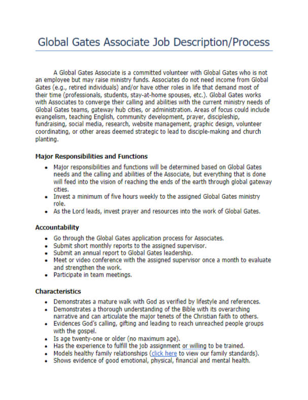 global-gates-assocDownload Global Gates Associates Sample Job Description