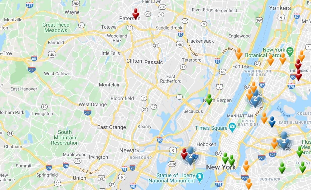 Global Gates Gateway Cities Map New Jersey