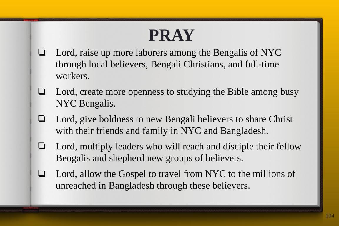 Global Gates Bangladeshi Of New York Prayer