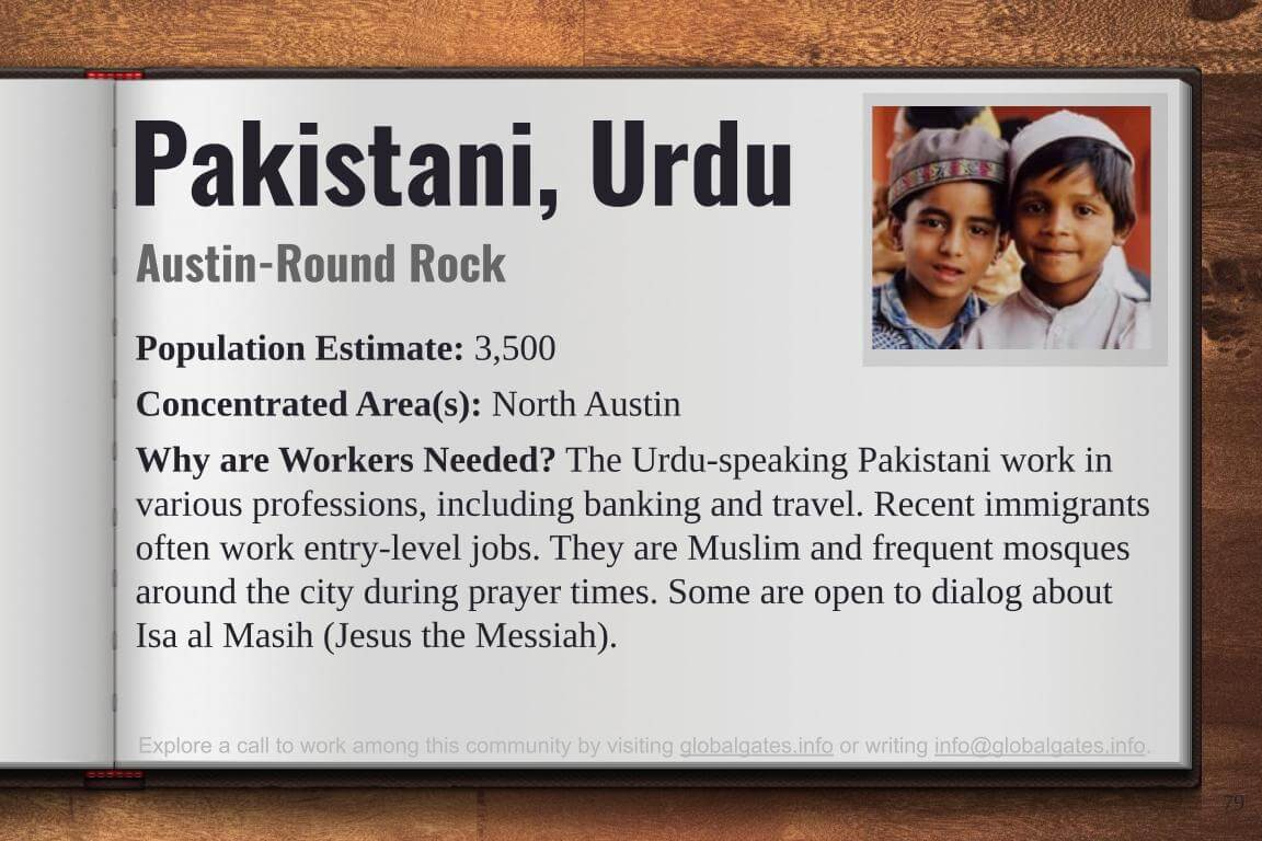 Global Gates Pakistani Urdu of Austin Profile