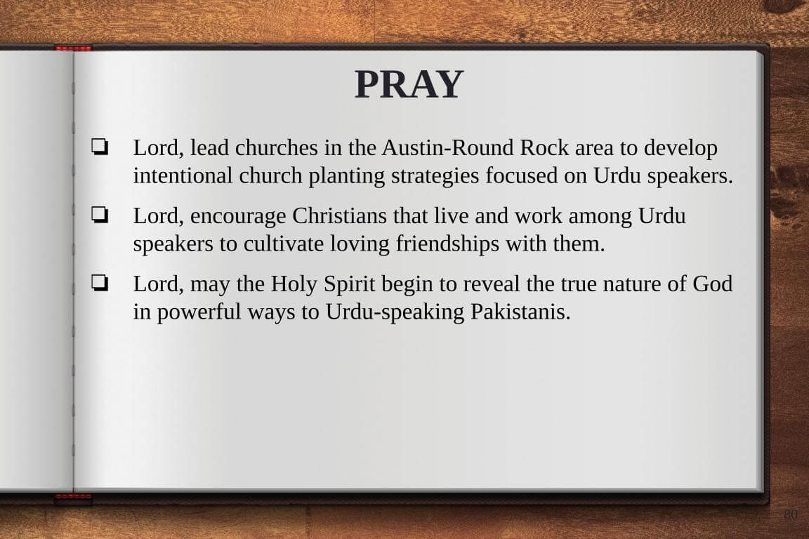 Global Gates Pakistani Urdu of Austin Prayer