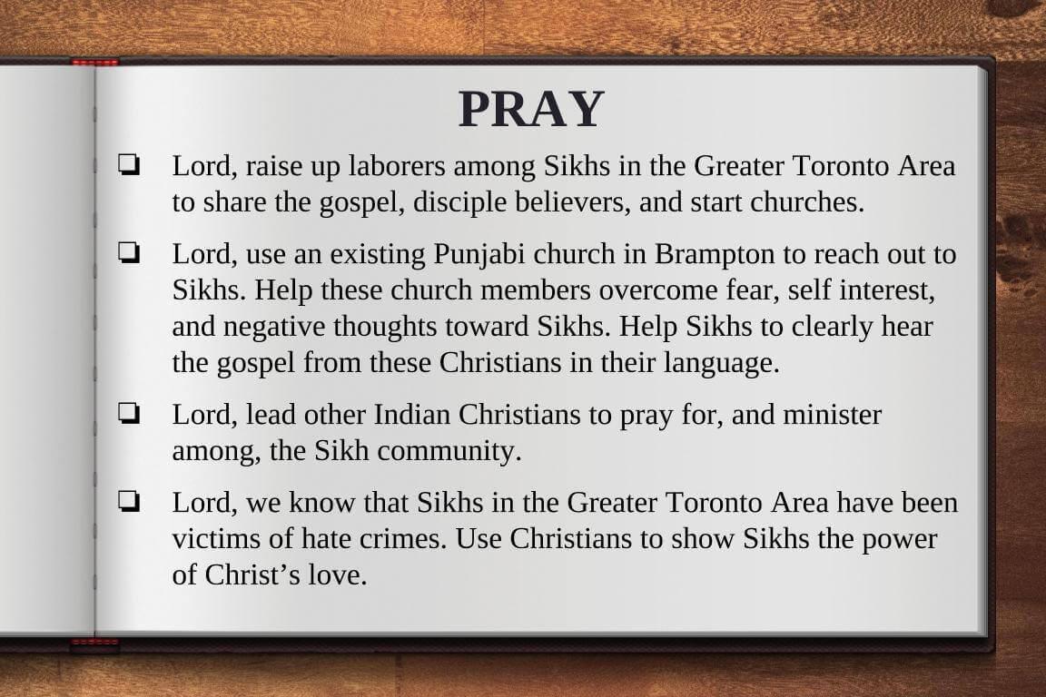 Global Gates Punjabi Sikh of Greater Toronto Area Prayer
